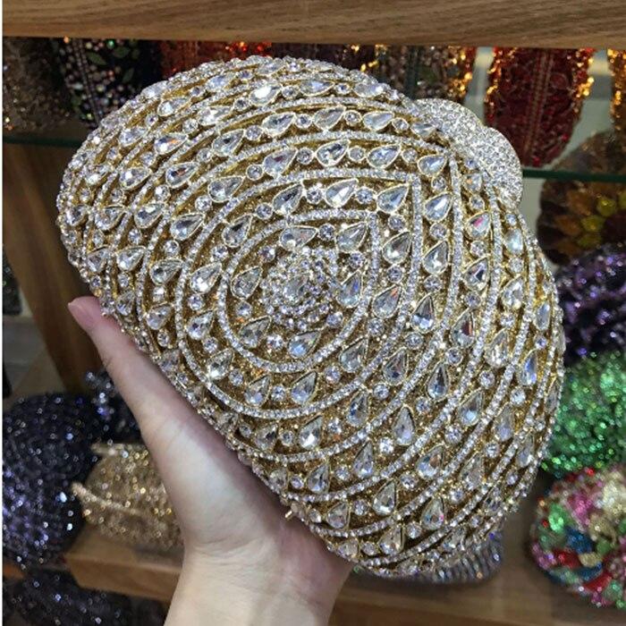 Diamante di cristallo nero/colore rosa/rosso/oro/argento Borsa Frizione Sera Borsa Da Sposa Frizione Diamante borse Da Sposa partito Minaudiere lady