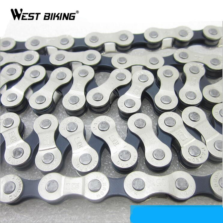 WEST BIKING Cycling Chain 8 Speed Zincir Bisiklet Road MTB Steel Bicycle Chain 6/7/8-Speed Road Bicycle Bike Chain Bike Parts