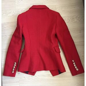 Image 4 - HIGH QUALITY Newest Fashion 2020 Fall Winter Designer Blazer Jacket Womens Classic Lion Buttons Tweed Wool Blazer Coat