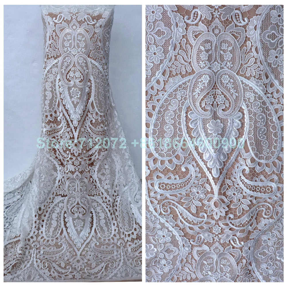 La Belleza Off white black hollow embroidered wedding evening dress   clothing lace fabric 111a567323de