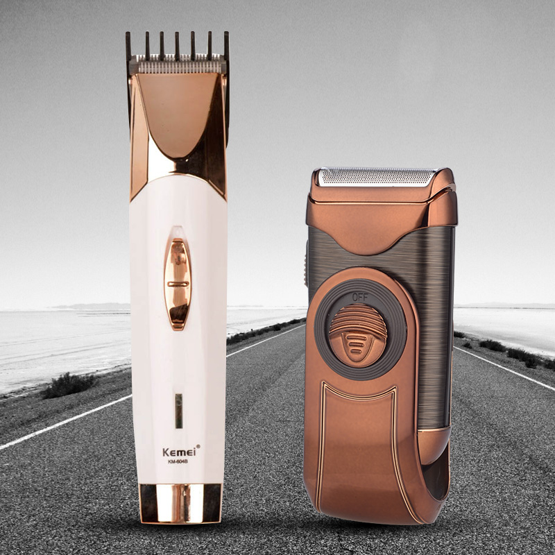 Professional Hair Trimmers Haircut Tool for Men with Stainless Steel Head+Cordless Man's Electric Razor Facial Beard Clean Shave stainless steel blade electric rechargeable hair carving trimmers lettering clipper haircut machine set 4 limit combs for men