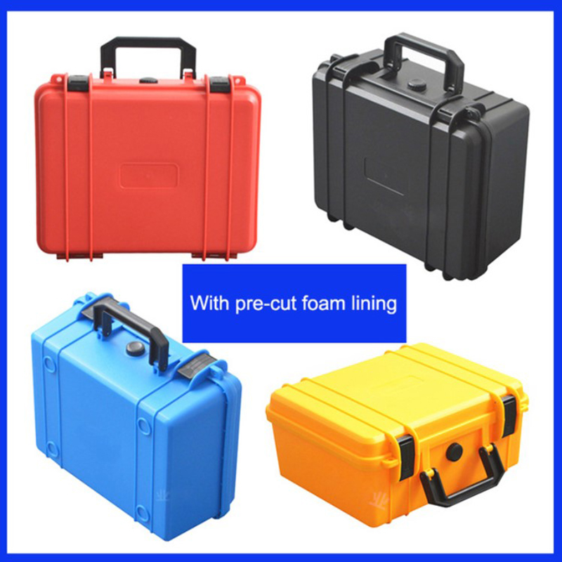 Tool case toolbox Electronic instrument case Small collection kit. Plastic hand-held camera case with pre-cut foam shipping free Price $33.20