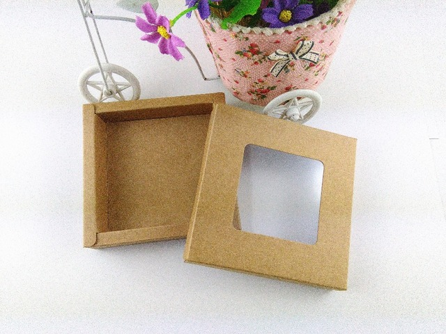 Wholesale Free shipping Window Kraft Box Gift boxes High Quality DIY