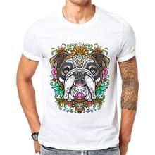 Asian Size Cartoon Men Funny T-Shirt Hip Hop Dog Printed Male Tops Short Sleeve Cotton Casual Tee Camisetas Hombre Verano 2019 dog surfer printed cartoon tee