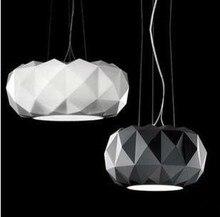 Бесплатная доставка горячий продавать подвесные люстра свет современный подвеска искусство Dia 35 см 50 см черный белый