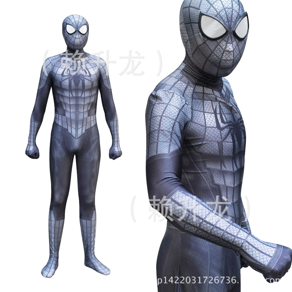 Black Spiderman Venom Suit Cosplay Costume Clothing Adult Kids Halloween Party Zentai Mask Bodysuit Jumpsuits