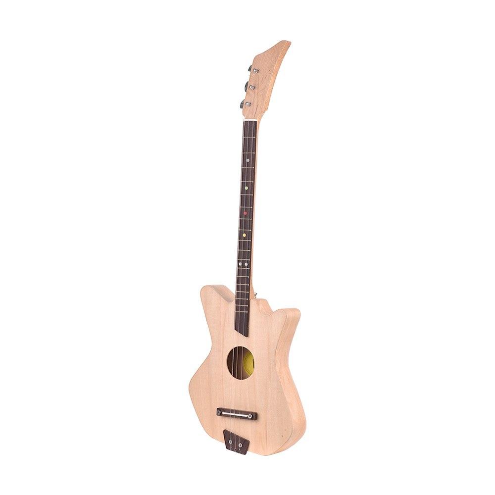 30 pouces inachevé bricolage 3 cordes guitare acoustique Kit bouleau bois corps érable cou palissandre touche avec Gig sac pics
