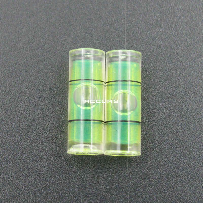 Hugey 1 قطعة 6.5*18 مللي متر البلاستيك دائرية فقاعة مستوى سطح مستوى الكحول مستديرة ل إطار صور