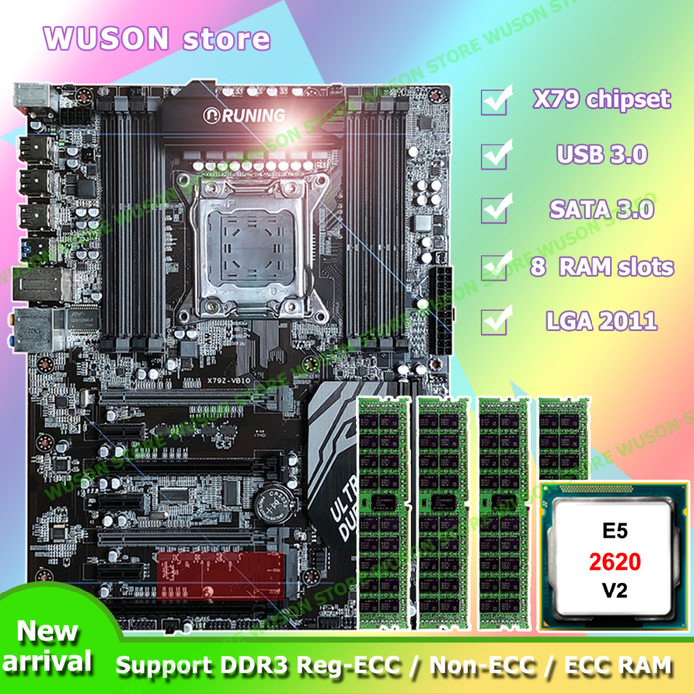 Computer DIY Intel Xeon E5 2620 V2 SR1AN Runing Super X79 motherboard memory 64G(4*16G) 1600MHz DDR3 REG ECC quality guarantee pc hardware supply runing x79 motherboard intel xeon e5 2620 srokw 2 0ghz ram 128g 8 16g ddr3 1600mhz reg ecc quality guarantee