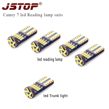 JSTOP 5piece set reading light led T10 Car Lamp canbus w5w led t10 12VAC Interior bulbs