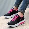 Женщины повседневная обувь 2016 Новое Прибытие Дышащий мода водонепроницаемые клинья туфли на платформе