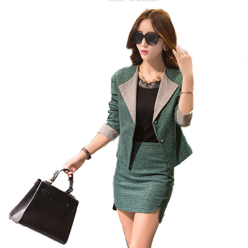 Women-Business-Suits-Formal-Office-Suits-Work-2015-Autumn-New-Blazer-Skirts-Two-Siuts-High-Quality