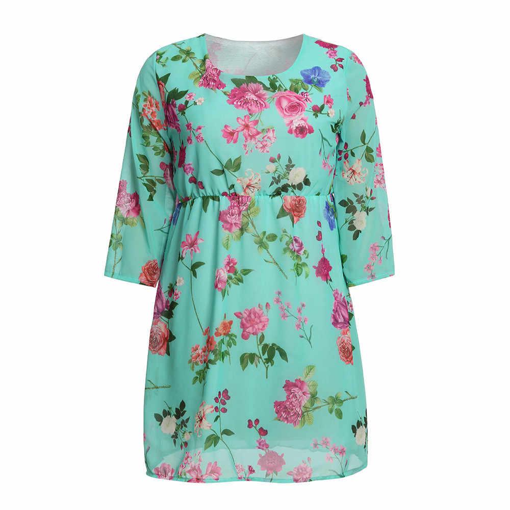 2c2c487b7e7d0 ... MUQGEW Pregnant Womens Clothes for Pregnant Nursing Nightgown Pregnancy  Floral Printed Dress Clothes vestido ...
