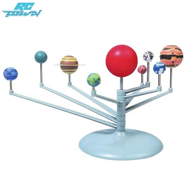 Image result for 3D Solar System Planetarium Model Learning Study Science Kits Educational Astronomy Model DIY Toy Gift