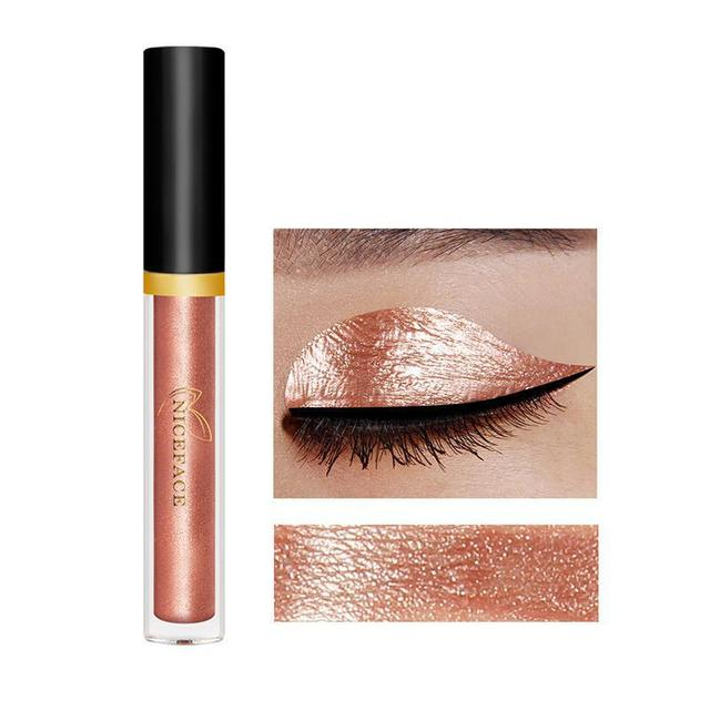 LEARNEVER 1 pcs Eye shadow Shining Liquid Smooth Waterproof Nude Eye shadow Makeup Palette Glitter Eye shadow Cosmetics Makeup