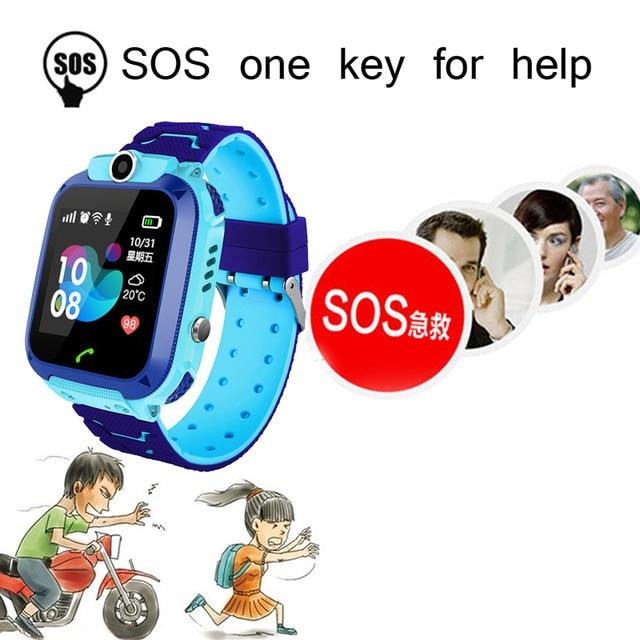 LIGE Smart Watch For Children Kids Baby Watch Phone 2G Sim Card Dail Call Touch Screen Waterproof Smart Clock Smartwatches+Box