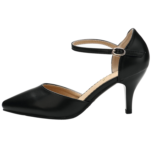 Women's Buckle Strap Shoes with Heel
