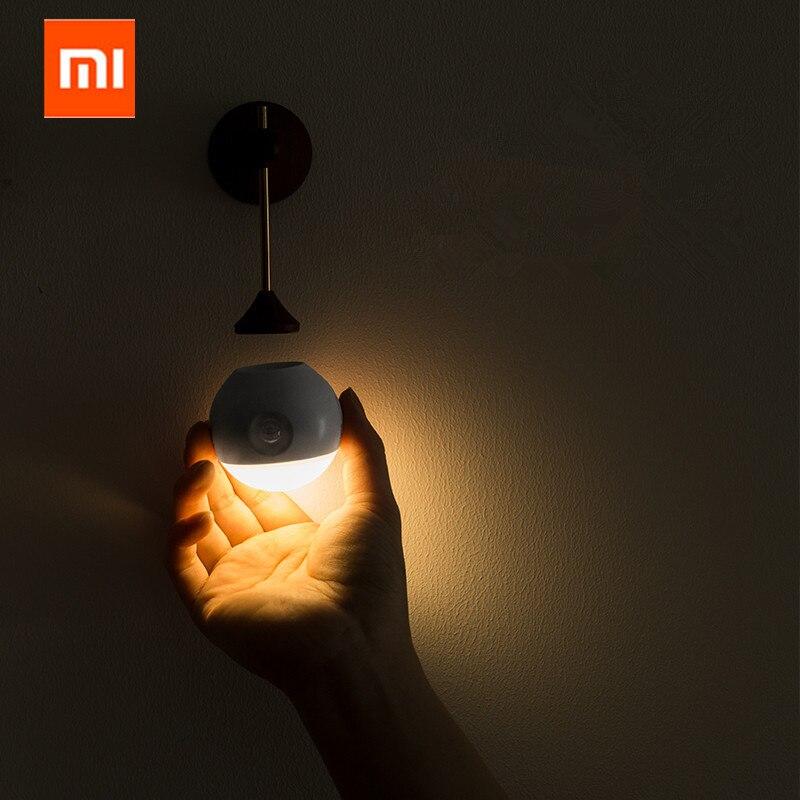 Xiaomi Mijia algo soleado inteligente Sensor de luz de la noche de infrarrojos de inducción de carga USB extraíble noche lámpara para xiaomi casa inteligente
