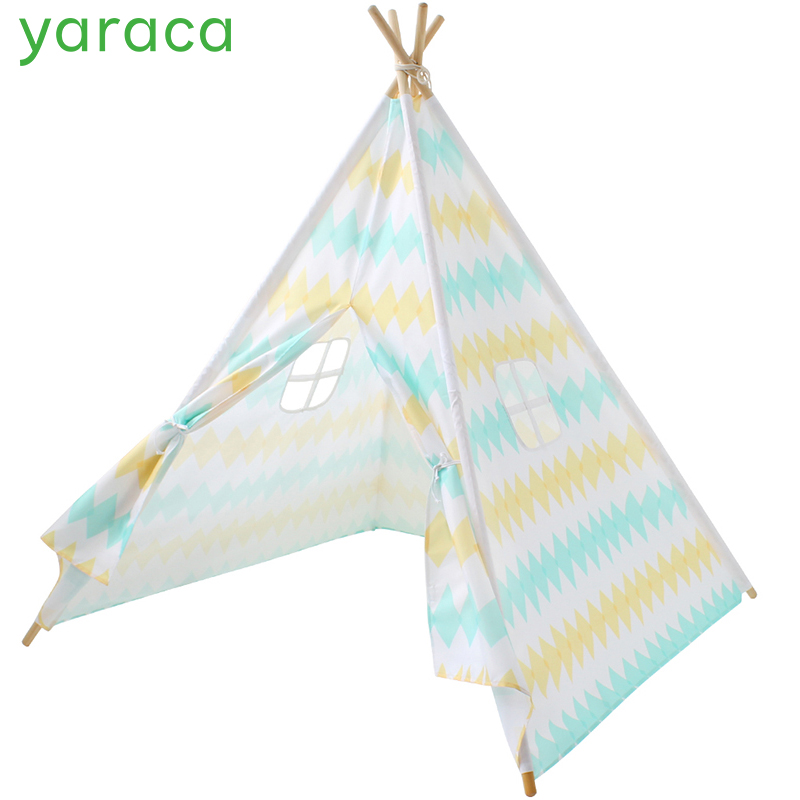 Children Tent Foldable Tipi Game Play House For Kids Colorful Prince Princess Castle For Boys Girls Teepee Wigwam Baby Cabin ...