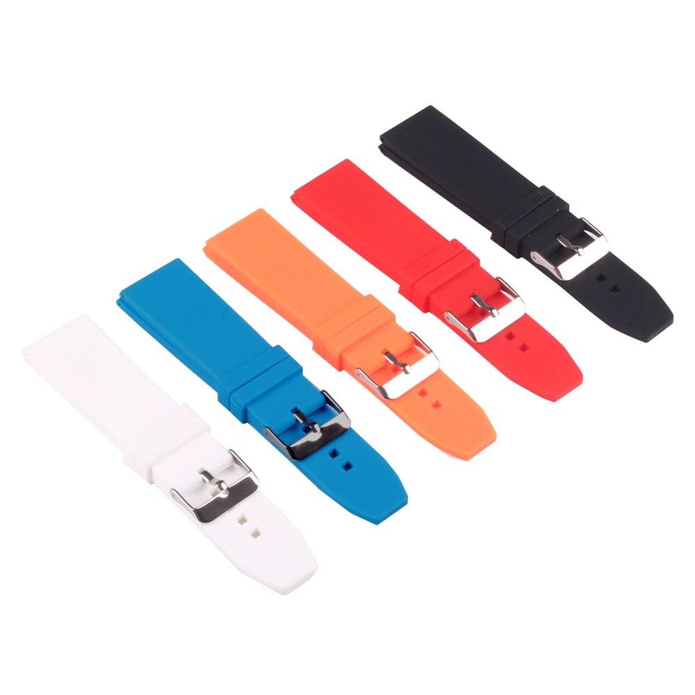 Silicon Rubber 16 18 20 22 24 26 28mm Bright Colored Solid Watch Multi Color Army
