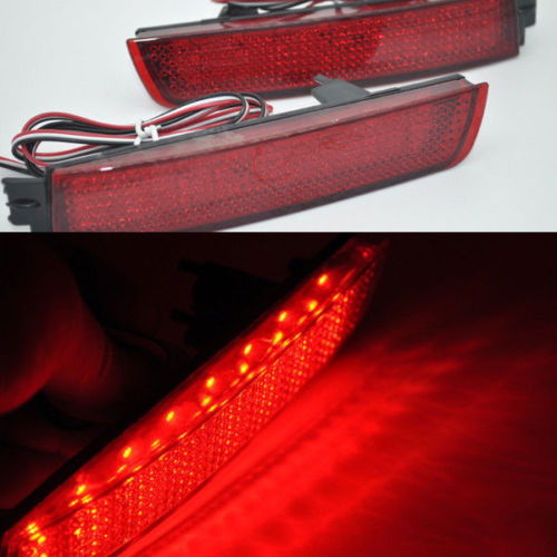 For Infiniti FX35 F37 Fx37 Red Len Rear Bumper Reflector LED Brake Tail Light светильник 3d light fx авто red