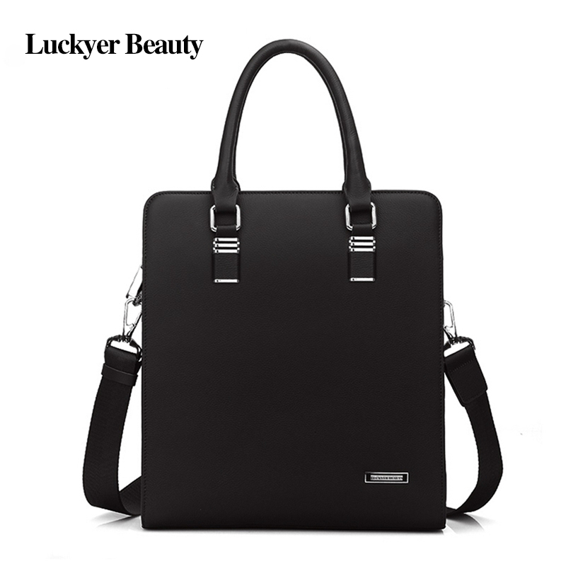 LUCKYER BEAUTY Designer Handbags High Quality Handbag Men Shoulder Bag Genuine Leather Handbags or Mens Business Bag Briefcase