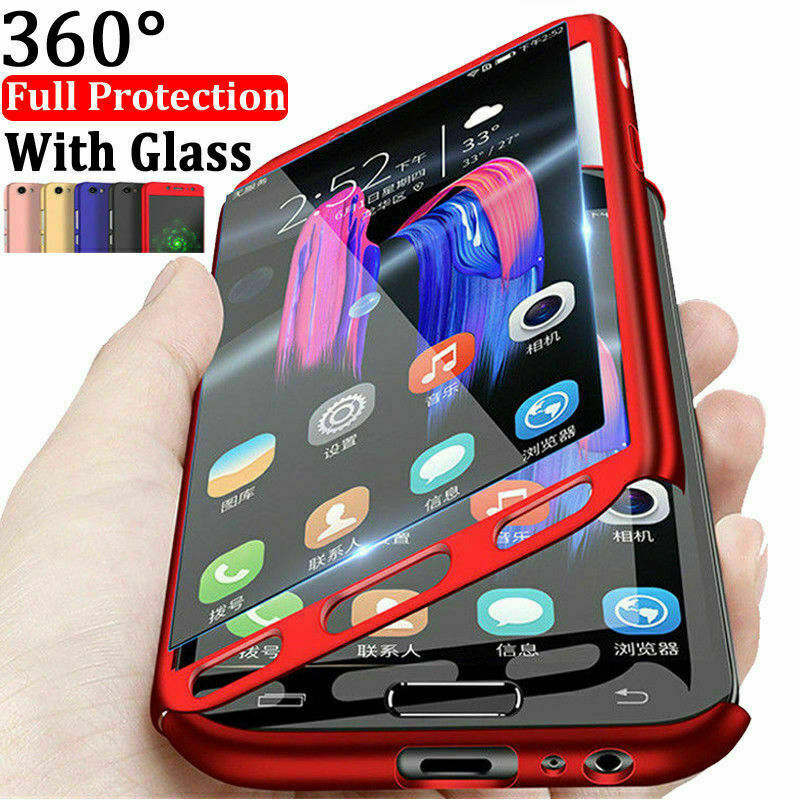 360 Full Body Cover for Huawei <font><b>Honor</b></font> 7A 7C 8 8A 8X <font><b>9</b></font> 10 <font><b>Lite</b></font> Cases Protective for Huawei P Samrt 2019 Y6 Y7 Y9 2018 Case Funda image