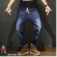 بنطلون جينز رجالي موضة 2020 ملابس الشارع من الدنيم الهيب هوب جينز أسود مقاس كبير 6XL Kot Pantolon بنطلون جينز رجالي ضيق ستريتش