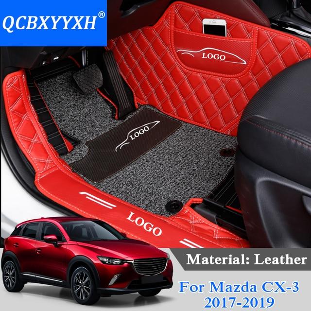 ברצינות Car Styling For Mazda CX 3 2017 2019 PU Leather Car Foot Mat Wire AL-75