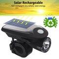 Ne LED USB перезаряжаемая велосипедная фара  солнечная энергия  велосипедный передний свет  водонепроницаемый  с вращением на 360 градусов  крепл...