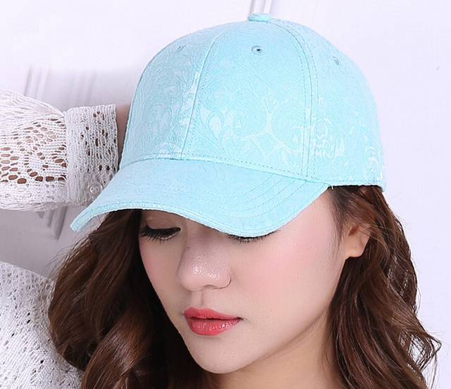 532be9e9279 10pcs Lot Fine Womens Flower Jacquard Baseball Cap 2017 Designer Ladies  Floral Cotton Baseball Hats for Spring Summer Wholesale