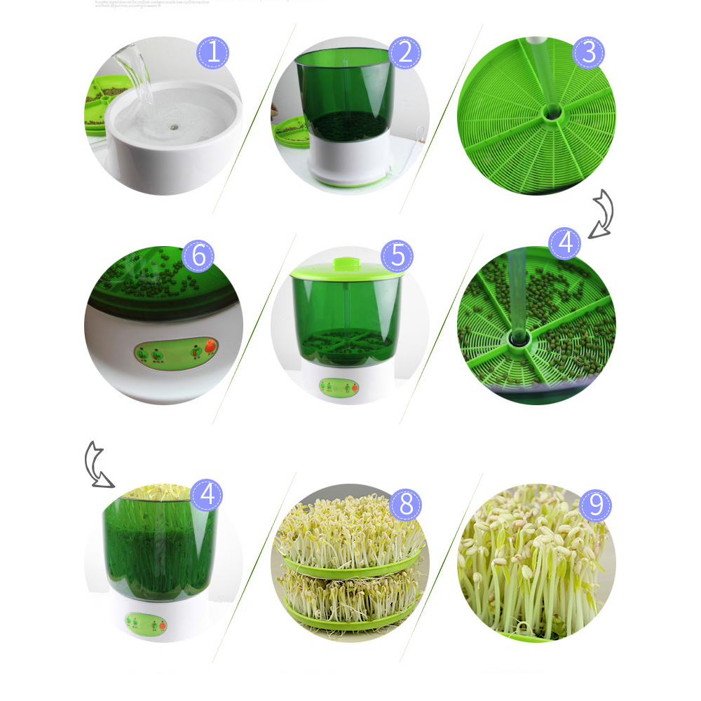 YUEWO Double layer Automatic seed,Fruit and vegetable germination Machine,Large Capacity Bean Sprout Grower