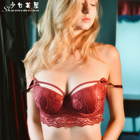 Shaonvmeiwu Autumn And Winter Women S New Sexy Lace Thick Underwear Comfortable To Gather Bra Red