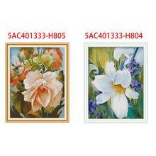 Цветок DIY ручной работы Рукоделие Счетный 14CT напечатаны крестиком комплект с вышивкой украшения дома