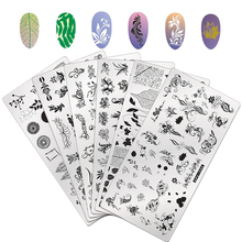 Stencils Template-Tools Nail-Stamp-Plate Stamping Image Manicure WAKEFULNESS Flowers-Series