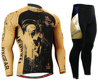HOT FIXGEAR Men Cycling Jersey Breathable Mountain Bike Long Sleeve Fashion Cycling Clothing And Pants Suit
