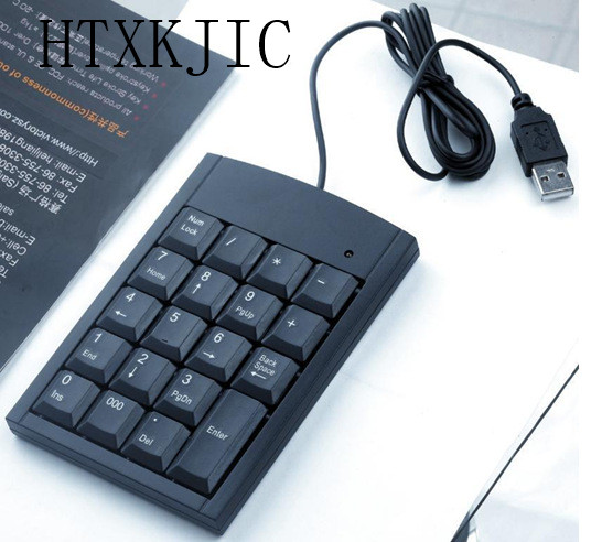 Mini USB Numeric Keyboard 18-keys Num Pad Wired Number Keypad Digital Teclado Klavye for Desktop Laptop Notebook PC silicone usb 18 key numeric keypad numpad for laptop black