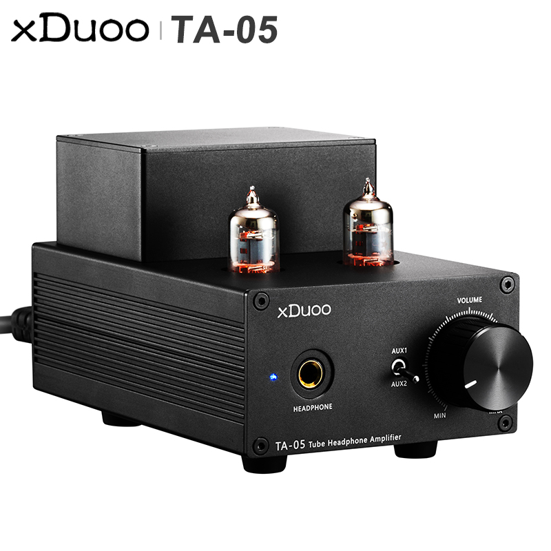 XDUOO TA 05 TA05 HiFi AUDIO Stereo Tube Headphone Amplifier AMP with Nichicon Capacitance 2 6JI