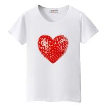 BGtomato Strawberry heart tshirt creative design t shirt women beautifu