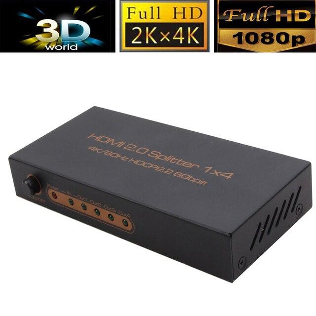 VOXLINK 10 ШТ. 1080 P 4 port Splitter 1X4 HDMI 2.0 Splitter HDR видео аудио Усилитель конвертер 3D 4 К * 2K @ 60 Гц Поддержка HDCP2.2 _ DHL
