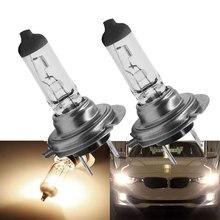 2 шт. H7, головной светильник, галогенные лампы, автомобильный светильник, источник света, теплый белый, 4200-4500 к, 55 Вт, автомобильная противотуманная фара, высокая мощность, автомобильный головной светильник, лампа 12 В