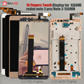 Pantalla para Xiaomi Redmi nota 3 LCD pantalla táctil con clave de fondo/marco para Redmi Note 3 Pro/primer pantalla 150mm