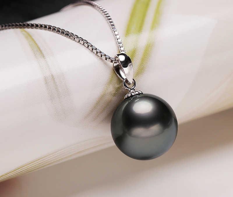 LMNZB 100% Natural Pérola Negra Colar de Pingente Brincos Set SZH001 Original Prata Esterlina 925 Conjuntos de Jóias de Casamento para As Mulheres