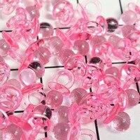 50 stuks Nieuwe Leuke Fopspenen Roze Blauw Transparant Mini Fopspenen voor Jongen Meisje Baby Shower Party Favor Cake Decoratie DIY levert 3