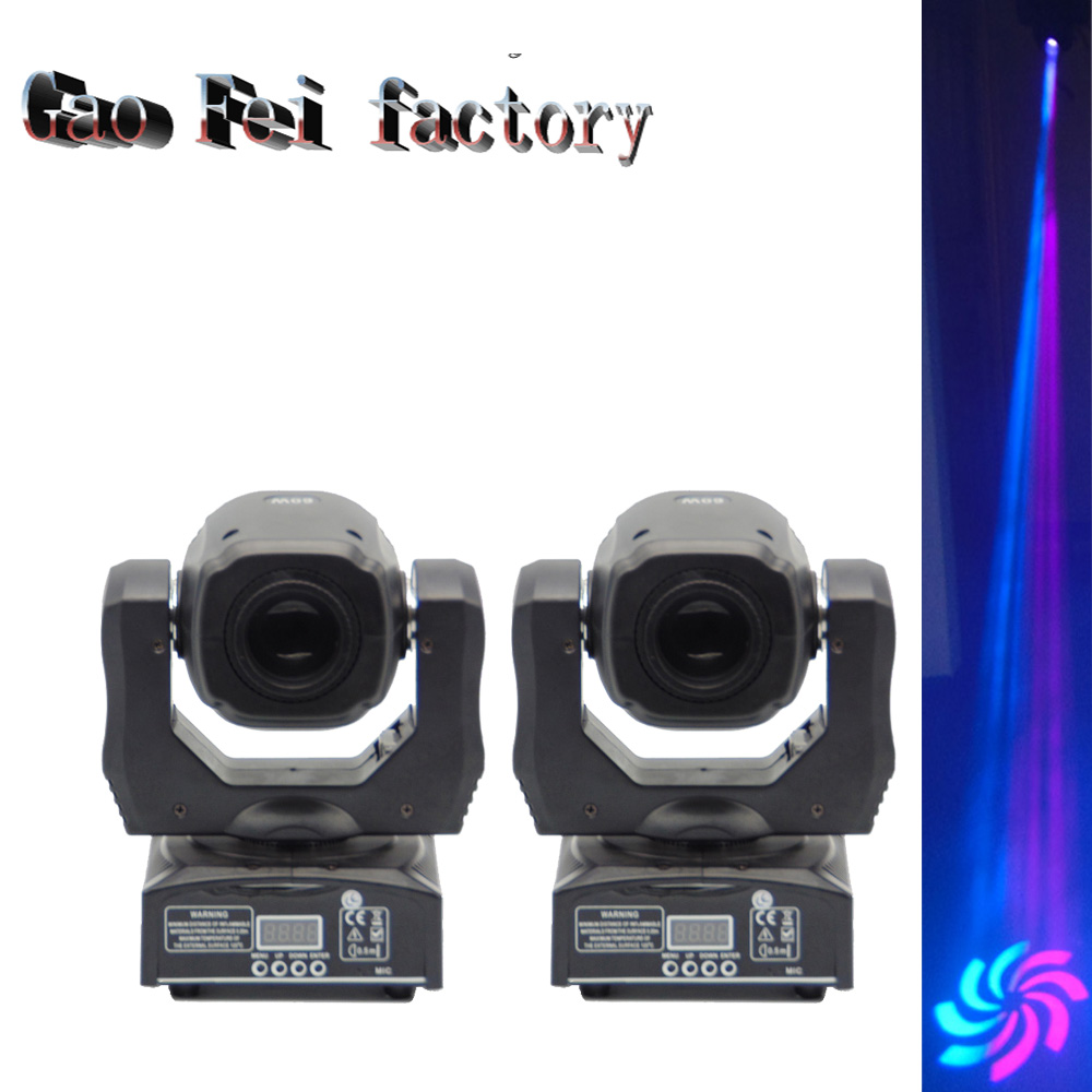 (2 pieces/lot) 60W LED Moving Head Spot Light Led Moving Head Beam dj equipment DMX512 China 60w gobo moving heads free shipping 5pcs lot 2 4ghz built in rechargeable battery wireless dmx512 receiver for led moving head light wireles kit