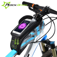ROCKBROS For 5.8/6.0 Cell Phone Cases MTB Road Bicycle Bike Bags Touch Screen Cycling Top Front Tube Frame Saddle Bags