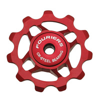 Set Of 2pcs Fouriers CNC Alloy Bike Bicycle Pulley CR Steel Seal Bearing 11T Pulleys Jockey