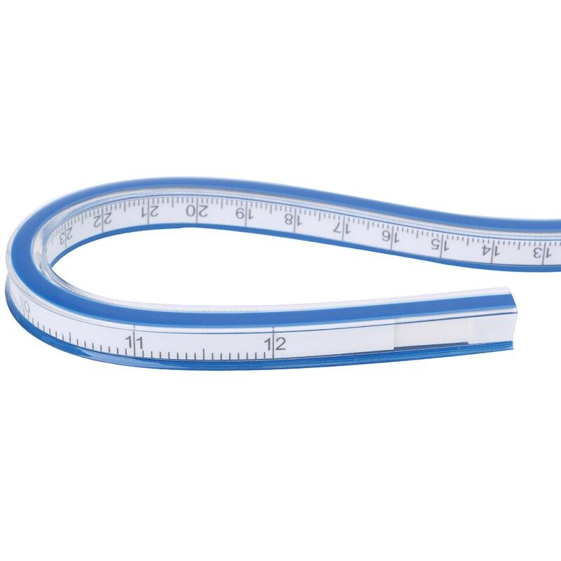Flexible Curve Ruler Drafting Drawing Tool Plastic Vinyl 30cm 40cm 50cm 60cm #3