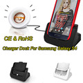White/Black Desktop Cradle Micro Usb Charger  Docking Station For Samsung Galaxy s4 With Audio Out