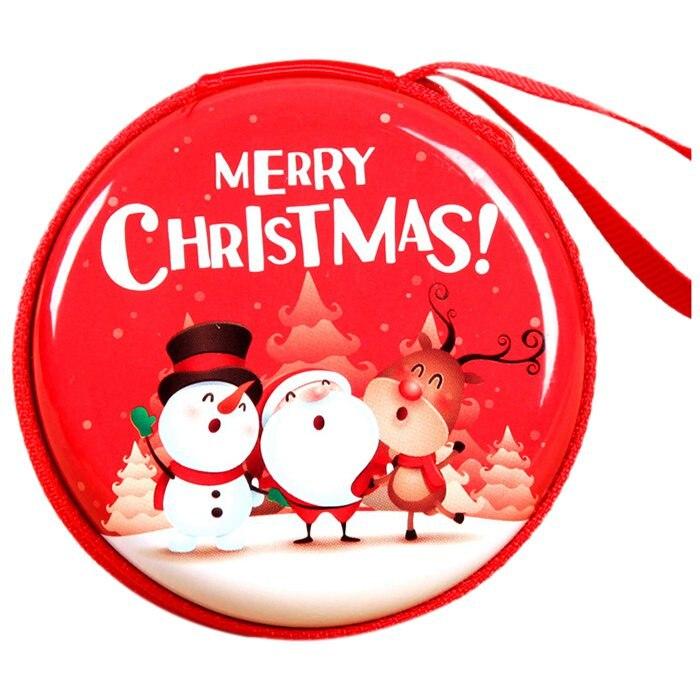 Good Value FGGS-5 PCS Mini Cute Round Headset Christmas Zipper Coin ...